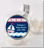 Sailboat Blue - Personalized Birthday Party Candy Jar