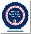 Sailboat Blue - Personalized Baby Shower Centerpiece Stand thumbnail