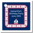 Sailboat Blue - Personalized Birthday Party Card Stock Favor Tags thumbnail