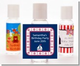 Sailboat Blue - Personalized Birthday Party Hand Sanitizers Favors