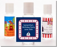 Sailboat Blue - Personalized Baby Shower Hand Sanitizers Favors