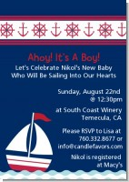 Sailboat Blue - Baby Shower Invitations