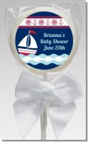 Sailboat Blue - Personalized Baby Shower Lollipop Favors