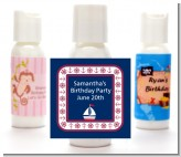 Sailboat Blue - Personalized Birthday Party Lotion Favors