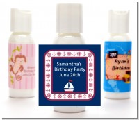 Sailboat Blue - Personalized Baby Shower Lotion Favors