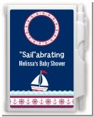 Sailboat Blue - Baby Shower Personalized Notebook Favor