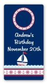 Sailboat Blue - Custom Rectangle Birthday Party Sticker/Labels