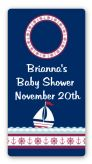 Sailboat Blue - Custom Rectangle Baby Shower Sticker/Labels