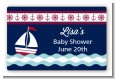 Sailboat Blue - Baby Shower Landscape Sticker/Labels thumbnail