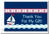 Sailboat Blue - Baby Shower Thank You Cards