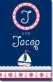 Sailboat Blue - Personalized Baby Shower Nursery Wall Art
