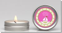 Sailboat Pink - Baby Shower Candle Favors