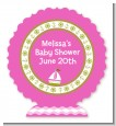 Sailboat Pink - Personalized Baby Shower Centerpiece Stand thumbnail