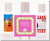 Sailboat Pink - Personalized Baby Shower Hand Sanitizers Favors