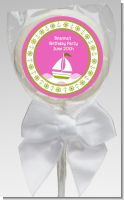 Sailboat Pink - Personalized Baby Shower Lollipop Favors