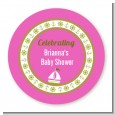 Sailboat Pink - Personalized Baby Shower Table Confetti thumbnail