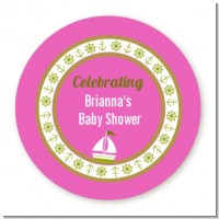 Sailboat Pink - Personalized Baby Shower Table Confetti