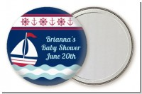 Sailboat Blue - Personalized Birthday Party Pocket Mirror Favors