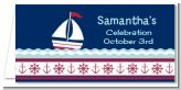 Sailboat Blue - Personalized Baby Shower Place Cards