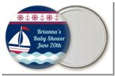 Sailboat Blue - Personalized Baby Shower Pocket Mirror Favors