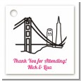 San Francisco Skyline - Personalized Bridal Shower Card Stock Favor Tags thumbnail