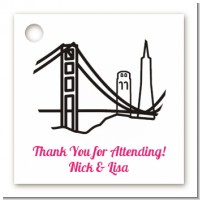 San Francisco Skyline - Personalized Bridal | Wedding Card Stock Favor Tags