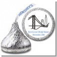 San Francisco Skyline - Hershey Kiss Bridal Shower Sticker Labels thumbnail