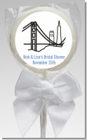 San Francisco Skyline - Personalized Bridal Shower Lollipop Favors