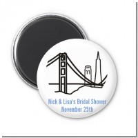 San Francisco Skyline - Personalized Bridal Shower Magnet Favors