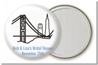 San Francisco Skyline - Personalized Bridal Shower Pocket Mirror Favors