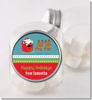 Santa And His Reindeer - Personalized Christmas Candy Jar