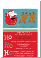 Santa And His Reindeer - Christmas Petite Invitations