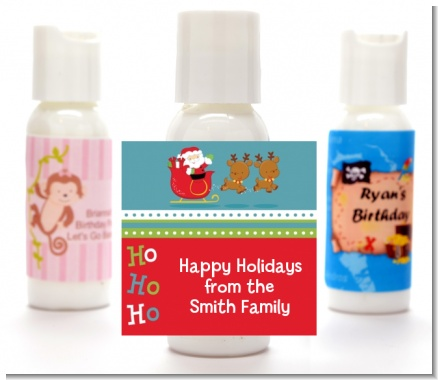 Santa And His Reindeer - Personalized Christmas Lotion Favors