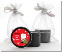 Santa Claus - Christmas Black Candle Tin Favors
