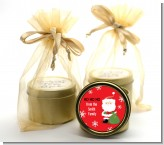 Santa Claus - Christmas Gold Tin Candle Favors