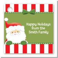 Santa Claus - Personalized Christmas Card Stock Favor Tags