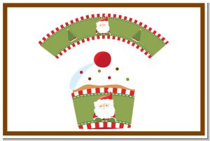 Santa Claus - Christmas Cupcake Wrappers