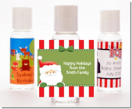 Santa Claus - Personalized Christmas Hand Sanitizers Favors