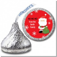 Santa Claus - Hershey Kiss Christmas Sticker Labels
