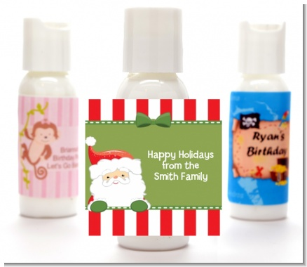 Santa Claus - Personalized Christmas Lotion Favors