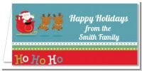 Santa And His Reindeer - Personalized Christmas Place Cards
