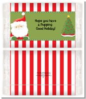 Santa Claus - Personalized Popcorn Wrapper Christmas Favors
