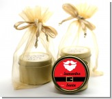 Santa's Belt - Christmas Gold Tin Candle Favors