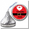 Santa's Belt - Hershey Kiss Christmas Sticker Labels thumbnail