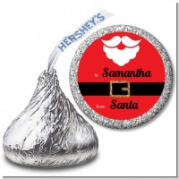 Santa's Belt - Hershey Kiss Christmas Sticker Labels