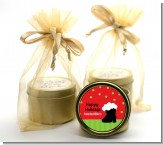Santa's Boot - Christmas Gold Tin Candle Favors