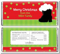 Santa's Boot - Personalized Christmas Candy Bar Wrappers