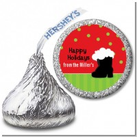 Santa's Boot - Hershey Kiss Christmas Sticker Labels