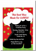 Santa's Boot - Christmas Petite Invitations