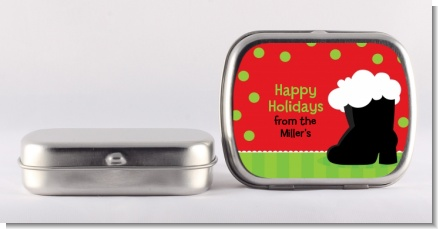 Santa's Boot - Personalized Christmas Mint Tins